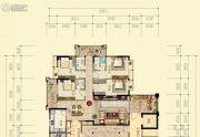 宏盛帝景4室3厅3卫179平方米户型图