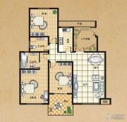 东方今典3室2厅2卫132平方米户型图