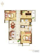 盛润锦绣城3室2厅1卫88平方米户型图
