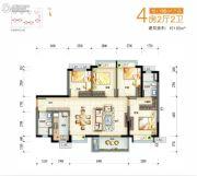 万科金域缇香4室2厅2卫0平方米户型图