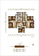 香榭里3室2厅1卫90--160平方米户型图