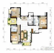 北京城建・世华泊郡3室2厅2卫130平方米户型图