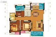 两江春城3室2厅1卫81平方米户型图