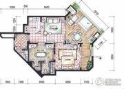 东和福湾2室1厅1卫104平方米户型图