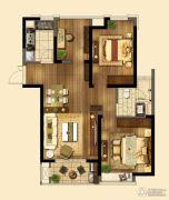 东方兰园2室2厅1卫95平方米户型图