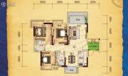 合汇学府名郡3室2厅2卫97平方米户型图