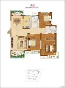 郑开橄榄城4室2厅2卫170平方米户型图