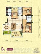 梦幻谷・�|方�A府3室2厅2卫140平方米户型图