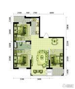 黎明金叶新苑3室1厅1卫97平方米户型图