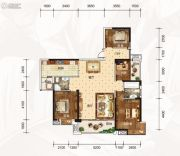 龙湾公馆4室2厅2卫161平方米户型图