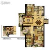 绿地旭辉城・峰汇4室2厅2卫128平方米户型图