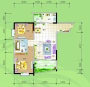 慢哉2室2厅2卫90平方米户型图