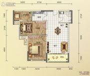 碧桂园城市花园3室2厅2卫89平方米户型图