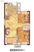 贵安新天地2室1厅1卫65平方米户型图