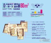 顶�L国际城2室2厅1卫80平方米户型图