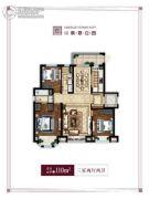 万科翡翠公园3室2厅2卫110平方米户型图