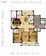 盛世森林花园3室2厅2卫139平方米户型图