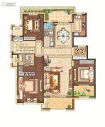 月桥花院3室2厅2卫151平方米户型图