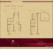 世茂原山首府3室2厅2卫120平方米户型图