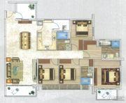 时代天韵4室2厅2卫173平方米户型图