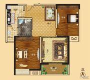 新龙御都国际2室2厅1卫93平方米户型图