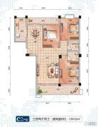 随州左岸星城四期3室2厅2卫134平方米户型图