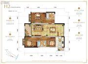 万科银海泊岸3室2厅2卫115平方米户型图