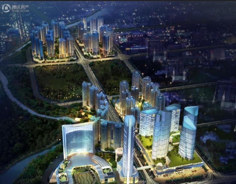 千禧河畔国际社区总鸟瞰