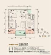 溪山御景3室2厅2卫0平方米户型图