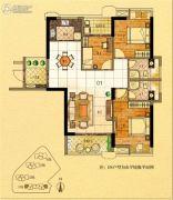 金紫世家3室2厅2卫116平方米户型图