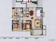 红棉雅苑3室2厅2卫98平方米户型图