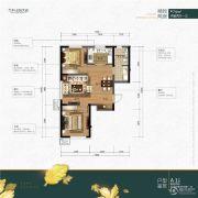 万科公园大道2室2厅1卫0平方米户型图