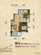 好旺星天地2室2厅1卫44--49平方米户型图