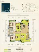 雍翠峰4室2厅2卫119平方米户型图
