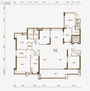 保利东江首府4室2厅2卫280平方米户型图