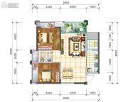 阳光西雅图2室2厅1卫83平方米户型图