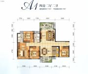 美丽洲4室2厅2卫114平方米户型图