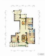 佳源・英伦都市3室2厅2卫128平方米户型图