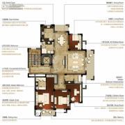 洛城中央御景4室2厅3卫200平方米户型图