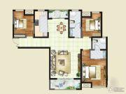 财信圣堤亚纳二期九臻3室2厅1卫138平方米户型图