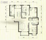 祥泰香榭花堤3室2厅2卫129平方米户型图