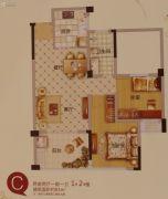 文晖名苑2室2厅1卫83平方米户型图