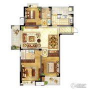 苏宁天御广场3室2厅2卫127平方米户型图