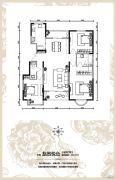 华远海蓝城3室2厅2卫137平方米户型图