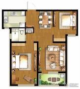 朗诗・新北绿郡2室2厅1卫86平方米户型图