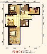 城关江南明珠3室2厅1卫95平方米户型图