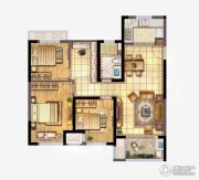 新城香悦澜山3室2厅1卫100平方米户型图