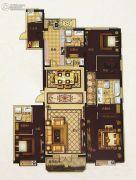 城关万达广场4室2厅4卫285平方米户型图