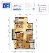 枕水小镇三期3室2厅2卫109平方米户型图