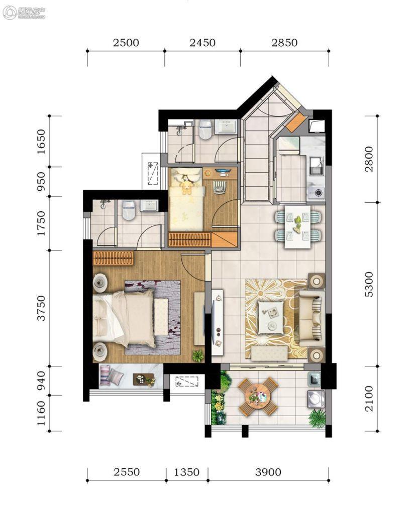 2#3#2房2厅2卫(正面海景阳台)